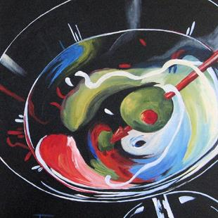 Art: Martini, Stirred VII by Artist Torrie Smiley