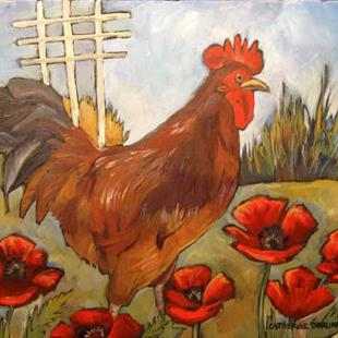 Art: PoppyCock by Artist Catherine Darling Hostetter