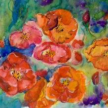 Art: Poppies and Flowers by Artist Delilah Smith