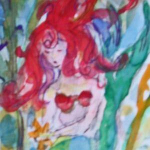 Art: Mermaid Aceo by Artist Delilah Smith