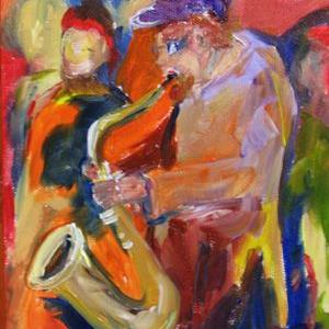 Art: Jazz Club by Artist Delilah Smith