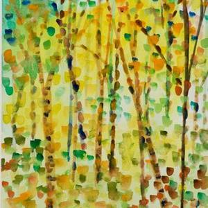 Art: Confetti Landscape by Artist Delilah Smith