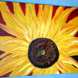 Art: SUNFLOWER by Artist LUIZA VIZOLI