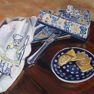 Art: Mouse & Cheese: Polish Pottery XXIX by Artist Heather Sims