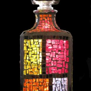 Art: Color Block Bottle (available) by Artist Dorothy Edwards