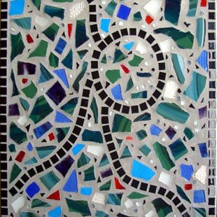 Art: Mosaic side table by Artist Heather Sims