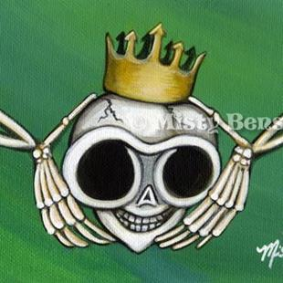 Art: Skull Claddagh by Artist Misty Monster (Benson)