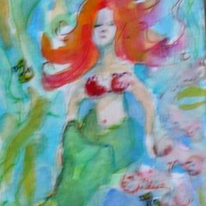 Art: Mermaid 3 ACEO by Artist Delilah Smith