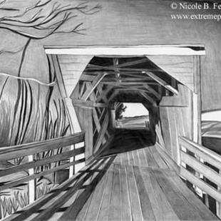 Art: Bridge Country by Artist Nicole Fekaris
