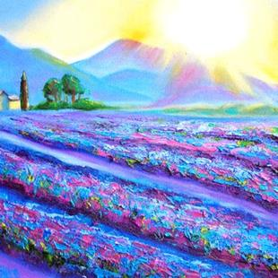 Art: Provence-Lavender Dawn by Artist Susi Franco