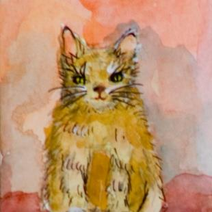Art: Cat ACEO by Artist Delilah Smith