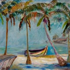 Art: Tropical Beach 3 by Artist Delilah Smith