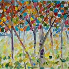 Art: Confetti Trees II by Artist Delilah Smith