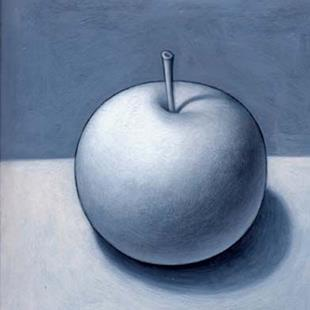 Art: From The Garden (Gray Apple 2) by Artist Valerie Jeanne