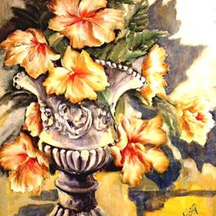 Art: Giant Hibiscus - SOLD by Artist Diane Millsap