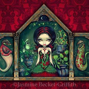 Art: Carnivorous Greenhouse by Artist Jasmine Ann Becket-Griffith