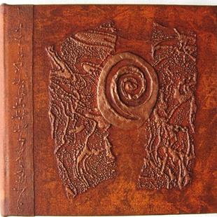 Art: Sienna Spiral Journal by Artist Elis Cooke