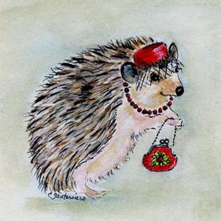 Art: Fashionista Hedgie by Artist Cathy Santarsiero