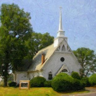 Art: St Michael's Church 1, Popular Springs, MD by Artist Anthony Allegro