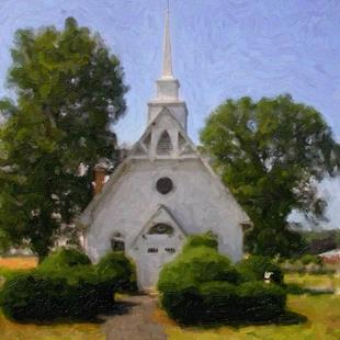 Art: St Michael's Church 2, Popular Springs, MD by Artist Anthony Allegro