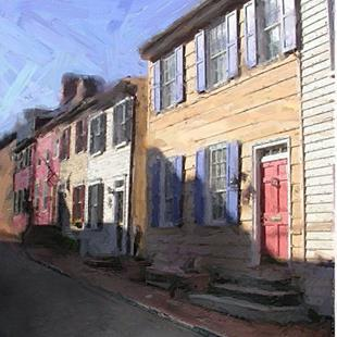Art: Side Street Homes 2 by Artist Anthony Allegro