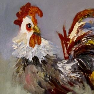 Art: Free Range Rooster by Artist Delilah Smith