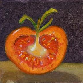 Art: Half a Tomatoe by Artist Delilah Smith
