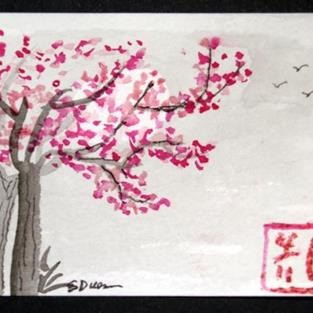 Art: Plum Blossoms #1 - sold by Artist Shari Lynn Schmidt