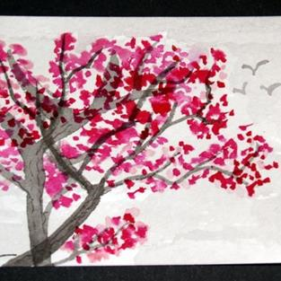 Art: Plum Blossoms #2 sold by Artist Shari Lynn Schmidt