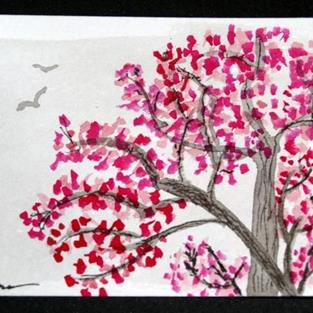 Art: Plum Blossoms #4 sold by Artist Shari Lynn Schmidt
