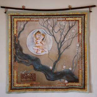 Art: Buddha's Dream Wall Hanging or Square by Artist Nadean O'Brien