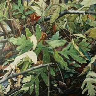 Art: Ferns by the Pond - Oil Painting by Artist Harlan