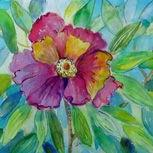 Art: Peony Blossom by Artist Delilah Smith
