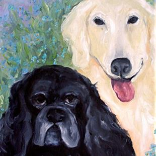 Art: Sophie and Gracie by Artist Deborah Sprague