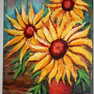 Art: SUNFLOWERS BOUQUET by Artist LUIZA VIZOLI