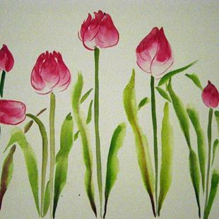 Art: Tulips by Artist Tracey Allyn Greene