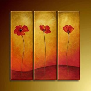 Art: Three Popies by Artist Ewa Kienko Gawlik