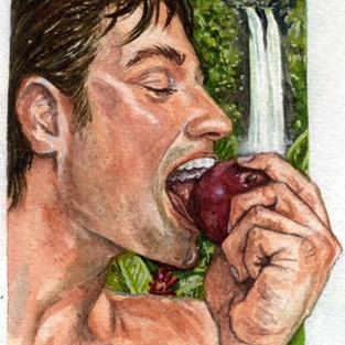 Art: Adam Bites The Apple by Artist Mark Satchwill
