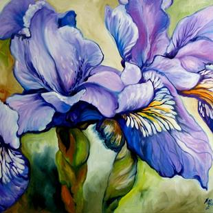 Art: Louisiana Wild Iris Abstract by Artist Marcia Baldwin