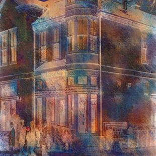 Art: Night Street by Artist Carolyn Schiffhouer