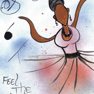 Art: FEEL THE MELODY... by Artist Melody Cole Gates