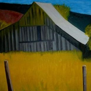 Art: barn by Artist John Fields