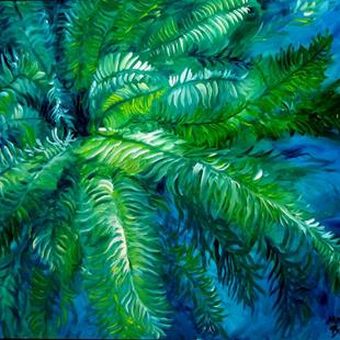 Art: GREEN FERN ABSTRACT by Artist Marcia Baldwin