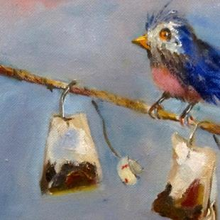 Art: Bird on a Line by Artist Delilah Smith