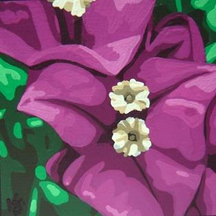 Art: Bougainvillea by Artist Kris Jean