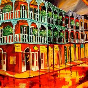 Art: New Orleans Rhapsody in Red - SOLD by Artist Diane Millsap