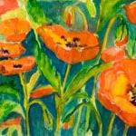 Art: Poppies No 3 by Artist Delilah Smith