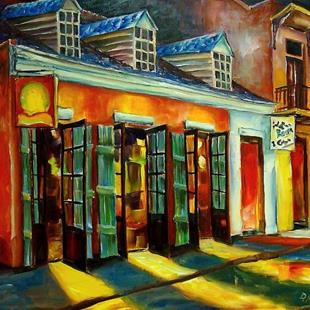 Art: Colors of Bourbon Street - SOLD by Artist Diane Millsap