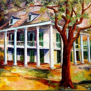 Art: Bayou Plantation - SOLD by Artist Diane Millsap