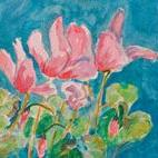 Art: Cyclamen No.2-sold by Artist Delilah Smith